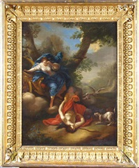 selene on her chariot with the sleeping endymion by french school (17)