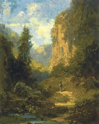 gebirgslandschaft (mountain landscape) by carl spitzweg