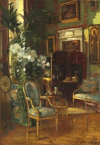 patrick william adam: an interior from an english stately home from the early 20th century by patrick william adam
