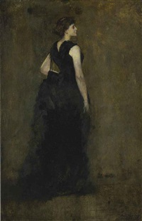 woman in black: portrait of maria oakey dewing by thomas wilmer dewing