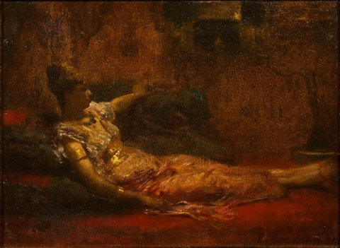 odalisque couchée by fernand cormon