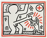 untitled (from three lithographs) by keith haring