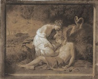 venus lamenting the death of adonis by benjamin west