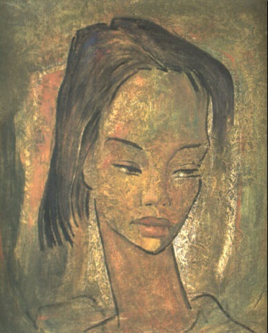 Head Of A Young Girl By Angel Botello On Artnet