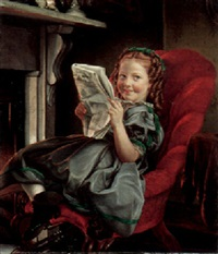 reading by the fireside by philipp hoyoll