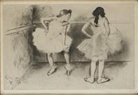 deux danseuses à la barre by louis legrand
