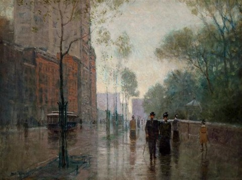 a rainy day in new york by paul cornoyer