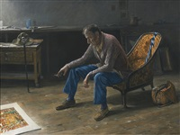 portrait des malers martin christ by jurg kreienbuhl
