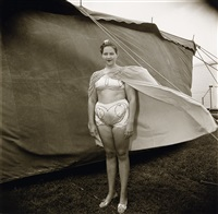 girl in her circus costume, md (maryland) by neil selkirk and diane arbus