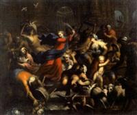 jésus chassant les marchands du temple by andrea celesti