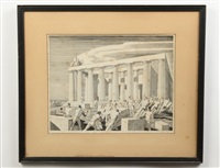 building the temple by rockwell kent