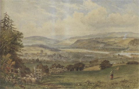 view of hexham by thomas h hair