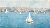 sailing, sydney harbour by robert richmond campbell