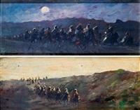 moros a caballo by emilio alvarez díaz