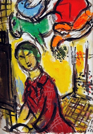 portrait of the artist by marc chagall