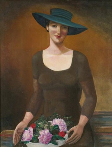 portrait of doris dickinson dinsmore by sergei yurevich sudeikin