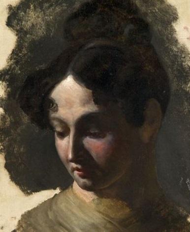 tête de femme study by nicolas toussaint charlet