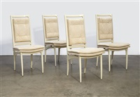 four dining chairs by vladimir kagan