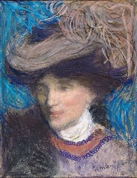 portrait d'élégante by edmond françois aman-jean