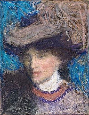 portrait délégante by edmond françois aman jean