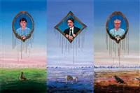manipulative manpower (triptych) by sudhanshu sutar