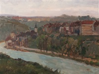 view of bern situated on the river aare by isaac israels