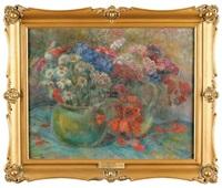 polne kwiaty w wazonach by stanislaw paciorek