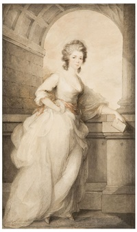 portrait of mrs. frances abington by ozias humphry