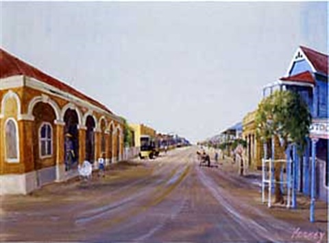 outback street scene by patrick hockey
