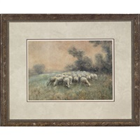 sheep in a pasture by cuthbert edmund swann