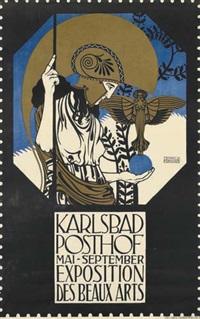 karlsbad posthof/exposition des beaux arts by leopold forstner