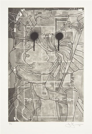 untitled from the geldzahler portfolio by jasper johns
