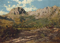 la montagne sainte-victoire aux abords d'aix-en-provence by paul camille guigou