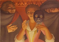 un ballo in maschero by george tooker