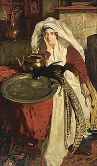 a woman in regional costume by willem matthijs maris