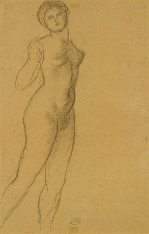 portrait de dina vierny en pied by aristide maillol