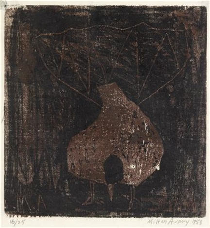 fantail pigeon by milton avery
