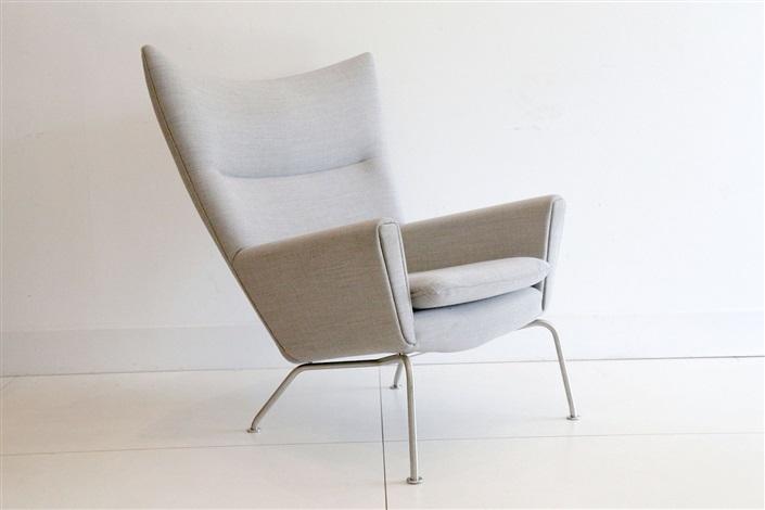 A Ch447 Wing Chair, Designed By Hans Wegner, Manufactured By Carl Hansen U0026  Son