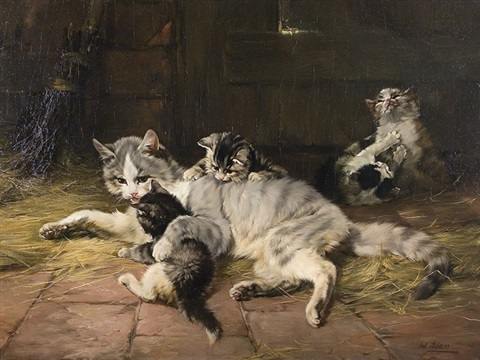 catfamily by julius adam unattributable