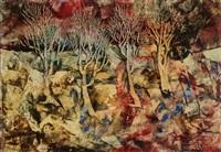 paysage aux arbres by gomir-anton kos