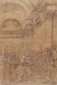 die letzte kommunion des hl. hieronymus by giacomo francia