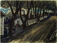 village scene by gustav alexandersson