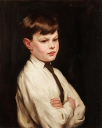 portrait of anthony john, the artist's son by p(ercy) harland fisher