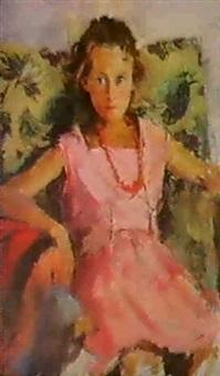 la belle robe rouge by alexandra desnitskaya