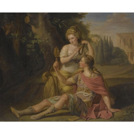 rinaldo and armida said to be henry greswold lewis and madame st clair by ludwig guttenbrunn