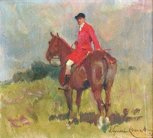 cavalier en rouge by woiciech aldabert ritter von kossak