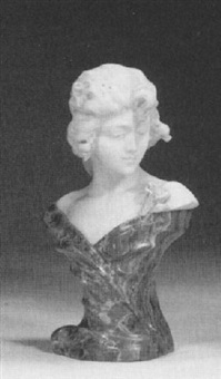 bust of a girl by a. batacchi