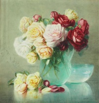 bouquet de roses by isidore rosenstock