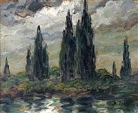 paysage nocturne by dieudonne jacobs