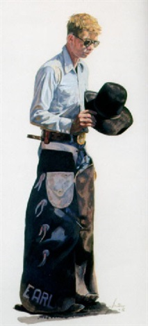 earl a tow headed cowboy by gordon snidow